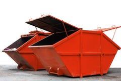 Bidone della spazzatura del recipiente di rifiuti industriali per rifiuti urbani o il industria Fotografia Stock