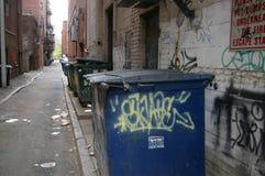 Bidone della spazzatura della città Fotografie Stock Libere da Diritti