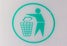 Bidone della spazzatura di logo Fotografie Stock Libere da Diritti
