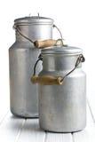 Bidone di latte di alluminio immagine stock