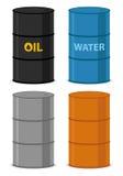 Bidones de aceite stock de ilustración