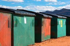 Bidoni della spazzatura Fotografie Stock Libere da Diritti