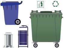 Bidoni della spazzatura. Fotografia Stock