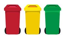 Bidoni della spazzatura illustrazione di stock