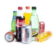 Bidons avec des boissons Image libre de droits
