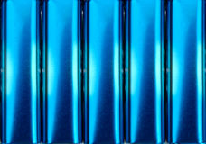 Bidons bleus électriques en métal Photos stock