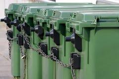 Bidons d'ordures Image libre de droits