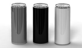 Bidons de boissons d'énergie illustration stock