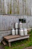 Bidons de lait Photographie stock