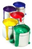 Bidons de peinture Images stock