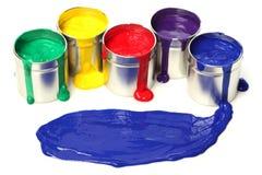 Bidons de peinture Image libre de droits
