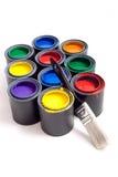 Bidons de peinture Photographie stock