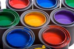 Bidons de peinture Photos stock