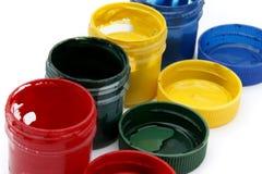 Bidons de peinture de gouache Images stock