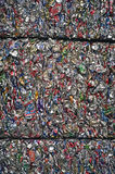 Bidons en aluminium écrasés Photographie stock libre de droits