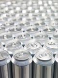 Bidons en aluminium Photos libres de droits