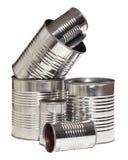 Bidons en aluminium photo stock
