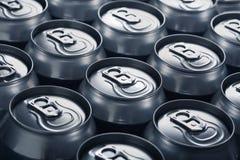 Bidons en aluminium Photographie stock libre de droits