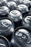 Bidons en aluminium image stock