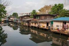 Bidonville di Bangkok Immagini Stock