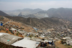 Bidonville a Lima, Sudamerica Fotografie Stock Libere da Diritti