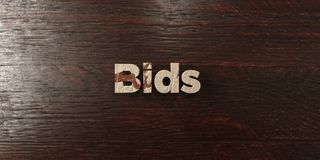 Bids - grungy wooden headline on Maple  - 3D rendered royalty free stock image Stock Photography