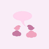Bids with speech bubble Royalty Free Stock Photography