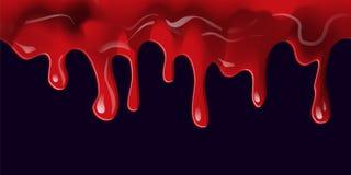 Bieżąca krew na czerni Zdjęcia Royalty Free