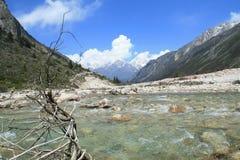 Bieżąca rzeka w skalistej Riwuqie dolinie Fotografia Royalty Free