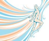 bieżąca tancerz samiec Obraz Stock