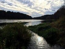 Bieżący rzeka krajobraz Obraz Royalty Free