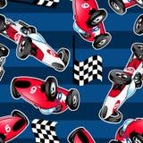 Bieżni samochody z błękitnymi lampasami. Obrazy Royalty Free