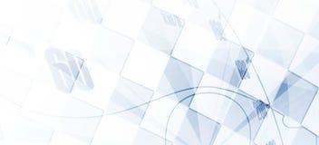 Bieżny kwadratowy tło, wektorowa ilustracyjna abstrakcja Zdjęcie Stock