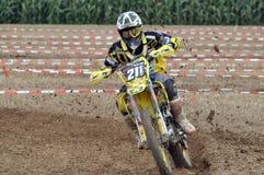 Bieżny motocross kierowca Zdjęcia Royalty Free