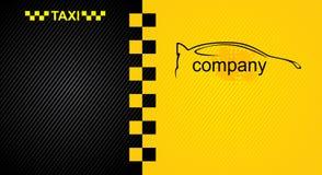 Bieżny pomarańczowy tło, taxi taksówki okładkowy szablon Obraz Stock