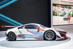 Bieżny samochód NSX GT3 pokazywał przy wydarzeniem Obrazy Stock