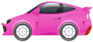 Bieżny samochód w menchia kolorze royalty ilustracja