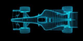 Bieżnego samochodu 3d rendering Obrazy Royalty Free