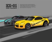 Bieżnego samochodu projekta szablon ilustracji