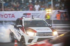 Bieżni samochody w Toyota Motorsport Zdjęcie Stock