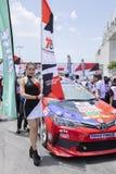 Bieżni samochody w Toyota Motorsport Obraz Royalty Free