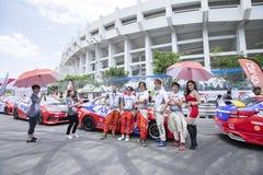 Bieżni samochody w Toyota Motorsport Zdjęcie Royalty Free
