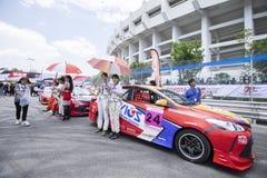 Bieżni samochody w Toyota Motorsport Fotografia Royalty Free
