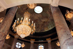 Biebrich宫殿内部  免版税库存照片