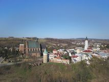 Free Biecz, Poland - 4 4 2019: Panorama Of The Ancient Polish City Of Bech. Aerial Photograph Taken From A Bird`s Flight Shot By A Royalty Free Stock Photos - 163335828