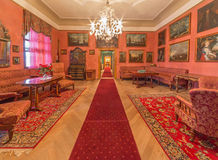 Biedermayer saloon in palace Saint Anton. Royalty Free Stock Images