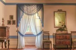 Biedermeier room tastefully furnished antique royalty free stock photos