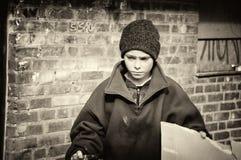 Biedna chłopiec fotografia stock