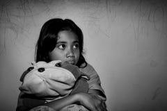 Biedna mała azjatykcia dziewczyna Zdjęcie Royalty Free