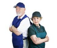 biedna planowania emerytury Obrazy Royalty Free